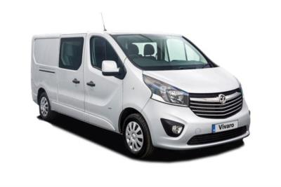 Vauxhall Vivaro L2 Diesel Van 2900 1.6 CDTi 120ps H1 Double Cab Business Contract Hire 6x35 10000