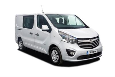 Vauxhall Vivaro L1 Diesel Van 2900 1.6 CDTi BiTurbo 125ps H1 Double Cab Business Contract Hire 6x35 10000