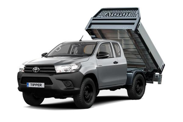 Toyota Hilux Diesel Active Extra Cab Tipper 2.4 D-4D (3.5t Tow) Lease 6x47 10000
