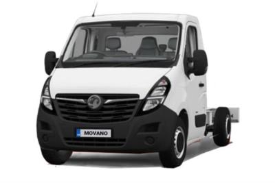 Vauxhall Movano 4500 HD L4 Diesel RWD 2.3 Turbo D 165ps H1 Chasis Cab Lease 6x47 10000
