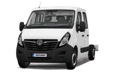 Vauxhall Movano 4500 HD L4 Diesel RWD 2.3 Turbo D 165ps H1 Chassis Crew Cab Lease 6x47 10000